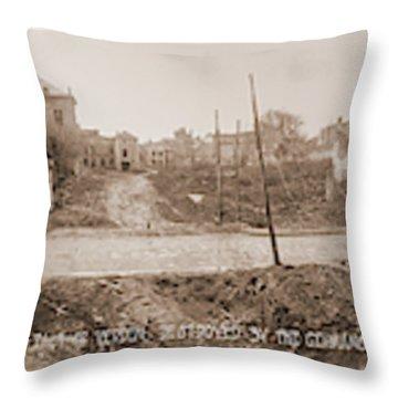 German Troop Damage Etain France Aef176 Throw Pillow