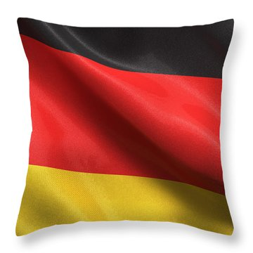 Germany Flag Throw Pillow by Carsten Reisinger