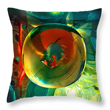 Throw Pillow featuring the painting Geronimo  by Robin Moline