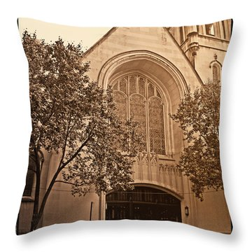 Get Me To The Church Throw Pillow by Donna Blackhall