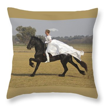 Get Me To The Church On Time Throw Pillow