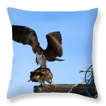 Get Off My Back Throw Pillow