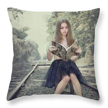 Get On The Right Track Throw Pillow