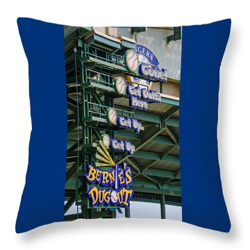 Get Outta Here   Throw Pillow by Susan  McMenamin