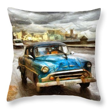 Get Outta My Dreams Get Into My Car Throw Pillow