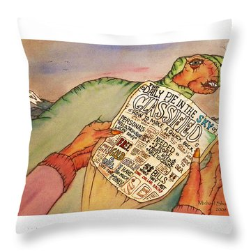 Get Rich Classifieds Humor Throw Pillow
