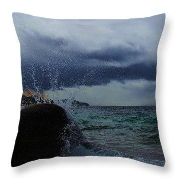 Get Splashed Throw Pillow