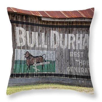 Get The Bull Throw Pillow