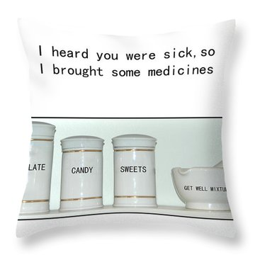 Throw Pillow featuring the photograph Get Well Sweets by Randi Grace Nilsberg