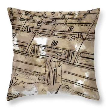 Get Your Seat Throw Pillow by Alice Gipson
