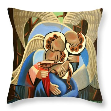 Gethsemane The Hour Is Near Throw Pillow