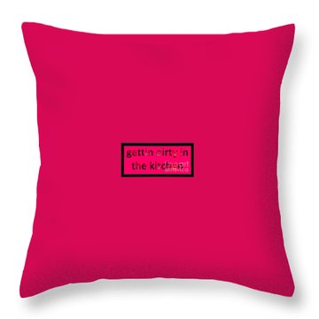 Throw Pillow featuring the digital art Gettin Dirty by Catherine Lott