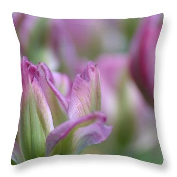 Getting Flirty Throw Pillow by Fraida Gutovich