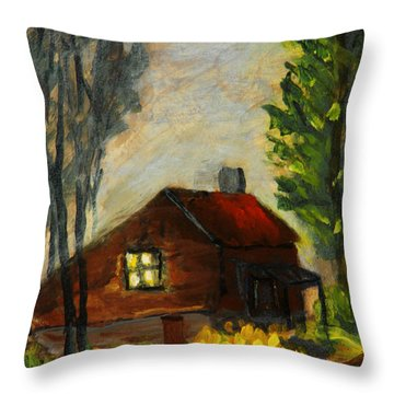 Getting Home At Twilight Throw Pillow