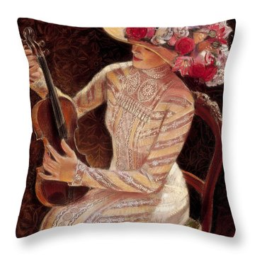 Getting In Tune Throw Pillow