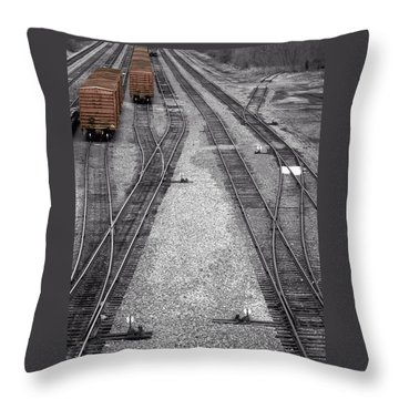 Getting On The Right Track Throw Pillow
