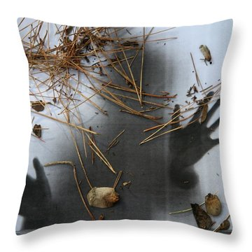 Getting Out Throw Pillow
