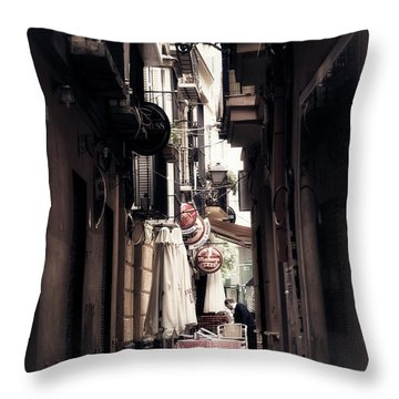 Getting Ready For The Day Throw Pillow by Mary Machare