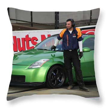 Getting Ready To Race Throw Pillow