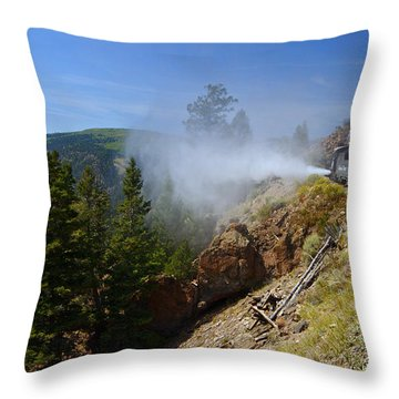 Getting Steamed Throw Pillow