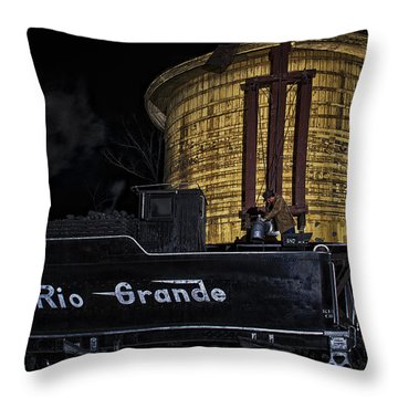 Throw Pillow featuring the photograph Getting Water by Priscilla Burgers