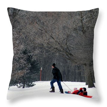 Throw Pillow featuring the photograph Getty-up Daddy by Kay Novy