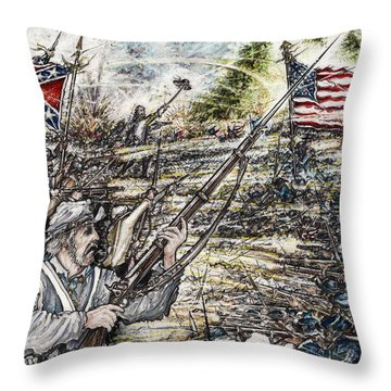 Gettysburg Ash's At The Angle Throw Pillow