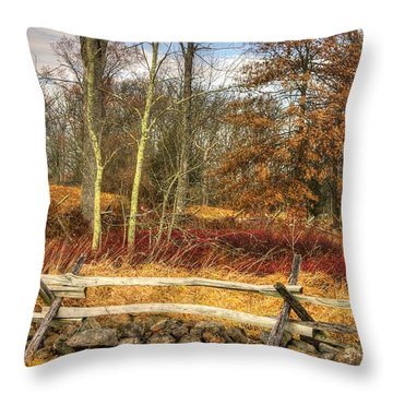 Gettysburg At Rest - Almost Home  - J. Weikert Farm Autumn Throw Pillow