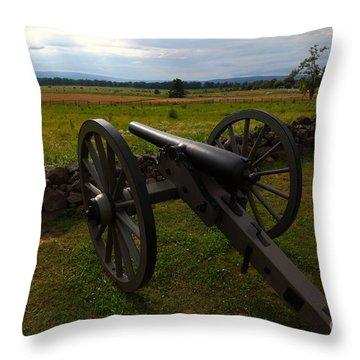 Gettysburg Battlefield Historic Monument Throw Pillow by James Brunker