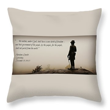Gettysburg Remembrance Throw Pillow