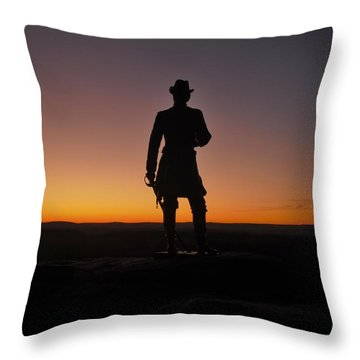 Throw Pillow featuring the photograph Gettysburg Sunset by Ed Sweeney