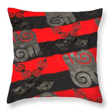 Ghana In Red And Black Throw Pillow