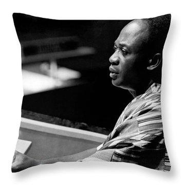 Ghana President Kwame Nkrumah Throw Pillow