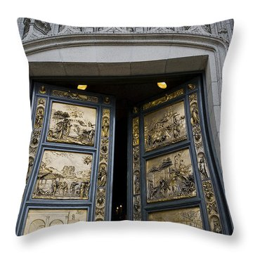 Ghiberti Doors Throw Pillow