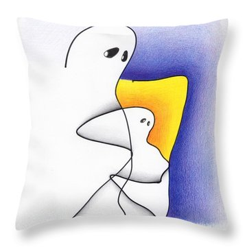 Ghost And Child Throw Pillow