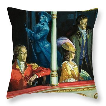 Ghost At The Theatre Throw Pillow by Andrew Howat