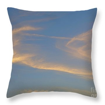 Ghost Clouds At Sunset. Throw Pillow