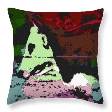 Ghost Cow Throw Pillow by George Pedro