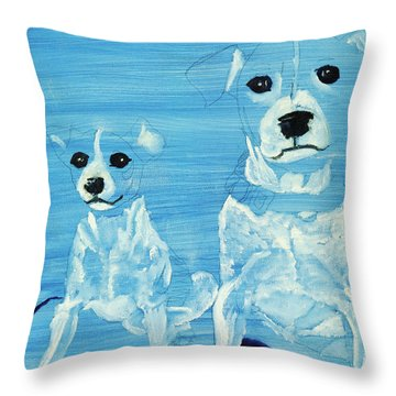 Ghost Dogs Throw Pillow by Terry Lewey
