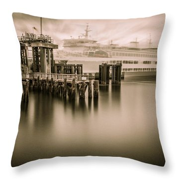 Ghost Ferry Throw Pillow
