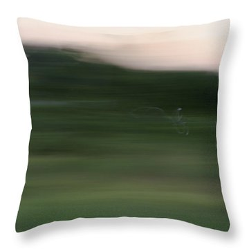 Throw Pillow featuring the photograph Ghost Flight - Motion Art Print by Jane Eleanor Nicholas