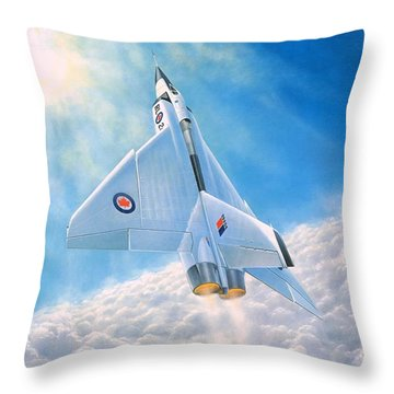 Throw Pillow featuring the painting Ghost Flight Rl206 by Michael Swanson