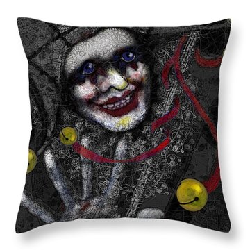 Ghost Harlequin Throw Pillow by Carol Jacobs