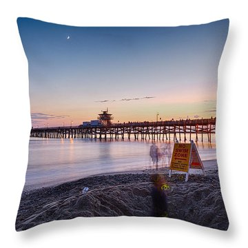Ghost In The Hole Throw Pillow