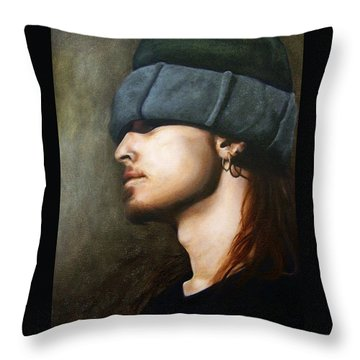 Ghost Throw Pillow by Jena Rockwood