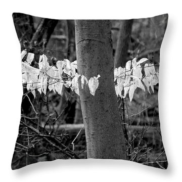 Ghost Leaves Throw Pillow by Steven Ralser
