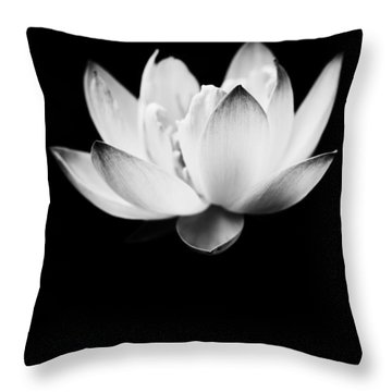 Ghost Lotus Throw Pillow