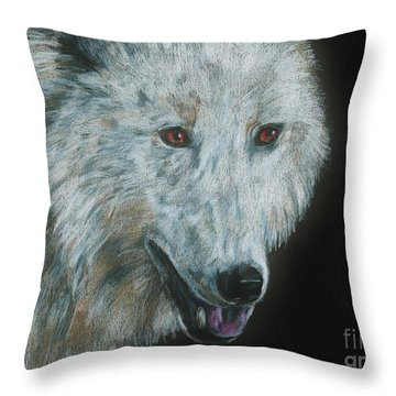 Ghost Throw Pillow by Meagan  Visser