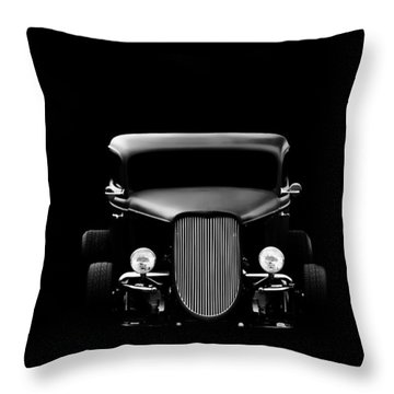 Classic Cars Throw Pillow featuring the photograph Ghost Of '36 by Aaron Berg