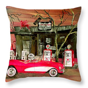 Ghost Of 66 Throw Pillow by Mark Moore
